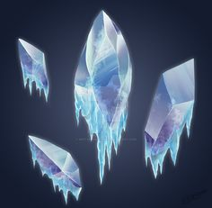 Ice Crystals by SketchingSands on DeviantArt Prop Design, Game Design, Ice Drawing, Ice Texture, Ice Magic, Pen & Paper, Ice Castles, Ice Crystals, Avatar Aang
