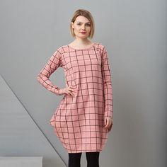 Papu mauveblack grid kantomekko Mauve, Grid, Sweaters, Black, Dresses, Fashion, Vestidos, Moda, Black People