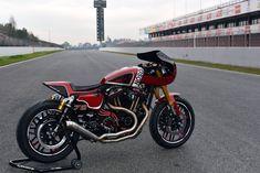 HD Roadster 1200 Cafe Racer by Harley-Davidson Barcelona #motorcycles #caferacer #motos | caferacerpasion.com #harleydavidsonbobberscaferacers