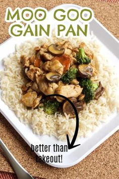 Moo Goo Gai Pan is a delicious chicken and mushroom stir fry dish you can make at home. #moogoogaipan #chinesefood #mushrooms #broccoli #stirfry #dinnerideas #amandascookin