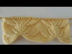 Leaf Knitting Pattern, Ladies Cardigan Knitting Patterns, Loom Knitting Projects, Knitting Videos, Lace Knitting, Baby Knitting Patterns, Crochet Patterns, Crochet Lace Edging, Knit Crochet