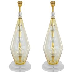 Pair of Italian Modern Murano Glass Table Lamps