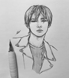 Art Inspiration Drawing, Art Inspo, Drawing Ideas, Pencil Art, Pencil Drawings, Girly M, Kpop Drawings, Daily Drawing, Pretty Photos