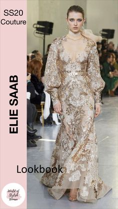 Spring Summer 2020 Haute Couture Collection by Elie Saab Elie Saab Couture, Haute Couture Dresses, Haute Couture Fashion, Elegant Dresses, Beautiful Dresses, Best Wedding Guest Dresses, High Fashion Dresses, Business Casual Attire, Luxury Dress