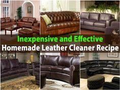 How To Clean Leather Furniture Vinegar And Household