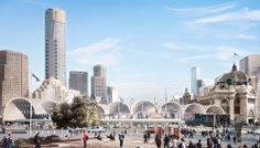 Flinders St Station from Federation Square