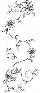 passion flower tattoo designs 129x300
