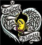 Dying for a kidney - tattoo design by Brian Wren, Brooklyn, NY