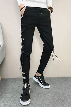 Slim Fit Hip Hop All Match Casual Pants – Benovafashion Slacks, Trousers, Harem Shorts, Men Pants, Slim Fit Pants, Jogger Pants, Fashion Pants, Casual Pants, Elastic Waist