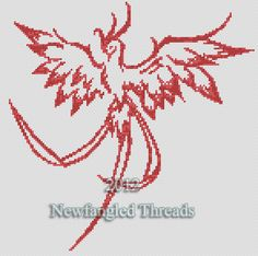 $4.50..... Phoenix cross ... by zucinon | Embroidery Pattern -Looking for your next project? You're going to love Phoenix cross stitch pattern by designer zucinon. - via @Craftsy