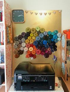 Pegboard Yarn Storage