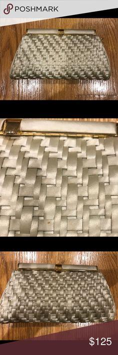 Authentic Judith Leiber silk clutch Classic vintage clutch from the '70's Judith Leiber Bags Clutches & Wristlets