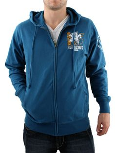 Ringspun Saxon Blue Lock Hooded Zip Ringspun Lock Hooded Zip - Mens zip thru from Ringspun - Lightweight hooded sweat with drawstring - Front and reverse print with mascot print on sleeve - Ringspun embroidery on shoulder - Product http://www.comparestoreprices.co.uk/mens-clothes/ringspun-saxon-blue-lock-hooded-zip.asp