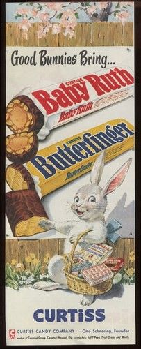 Easter vintage candy ad