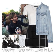 """""""Meeting Fans With Luke in LA"""" by zarryalmighty ❤ liked on Polyvore featuring Topshop, MANGO, Balenciaga, David Yurman, Uncommon, American Apparel, MAC Cosmetics, 5sos, lukehemmings and 5secondsofsummer"""