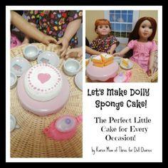 Doll Craft – Make a Doll Sized Sponge Cake