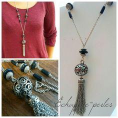 collier sautoir de style bohème chic *Harmonie chic* : Collier par echappee-perles