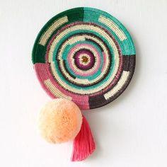 Wall Basket | Chunga Round - Apricot $129