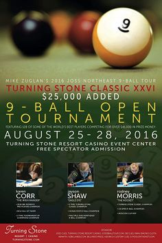 US pool tournament flyers...Check out pool tournament flyers and more at: http://www.goplaypool.com