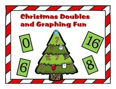Making Doubles has never been so much fun. A classic bingo game with a twist. Students are learning their double facts as they decorate a Christmas tree. They can also graph the ornaments they use in another activity. This product has many uses that your students will love.