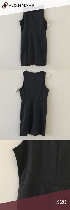 Old Navy • Charcoal Gray Sleeveless Dress Old Navy • Brand new with tags. Charcoal gray color. Form fitting. Soft, thick tshirt material.   ❄️ No trades. Make an offer! Discounts given on bundles. ❄️ Old Navy Dresses