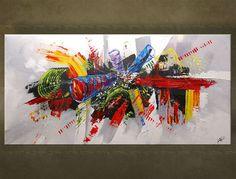 Ručne maľovaný obraz ABSTRAKT 1 dielny 5707FA