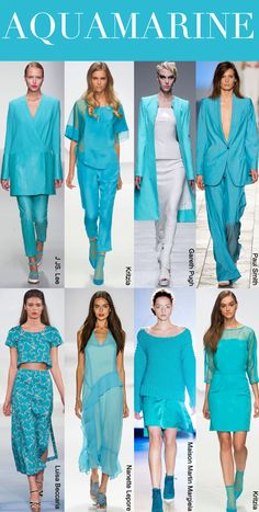 SS 2014, women's runway report, color trend aqua