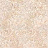 Morris Chrysanthemum Brown Wallpaper
