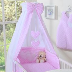 My Sweet Baby Hemel Katoen Wit/Stip Roze - Klamboes en Sluiers voor baby en peuters - Baby & Peuters Baby Room Decor, Nursery Room, Girl Nursery, Little Girl Bedrooms, Girls Bedroom, Angel Baby Shower, Baby Mobile Felt, Reborn Nursery, Cot Bedding
