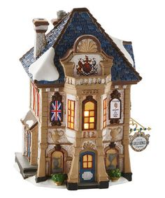 This Dickens Village Five Gold Rings Engraver Light-Up Décor is perfect! #zulilyfinds