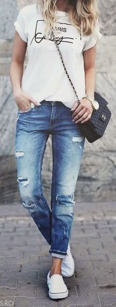 Awesome Way To Style Boyfriend Jeans