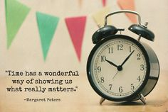 Time and what really matters
