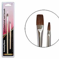 AMAZING SHINE NAILS Nail Brush 2pcs in Blister (Model: 317) by Amazing Shine. $4.95. Flat nail brush and art brush.