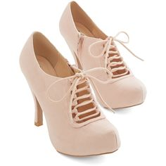 Darling Can't Stop Blushing Heel by ModCloth ($14) ❤ liked on Polyvore featuring shoes, pumps, heels, heels stilettos, platform heels pumps, stiletto pumps, pink pumps and stiletto heel pumps