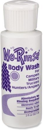 No rinse body wash.  Perfect for a trail race and the drive home when there aren't showers