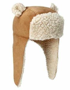 Baby Gap Boys Girl Shearling Trapper Hat Beenie Bear Ear Newborn Up to 7lbs   eBay