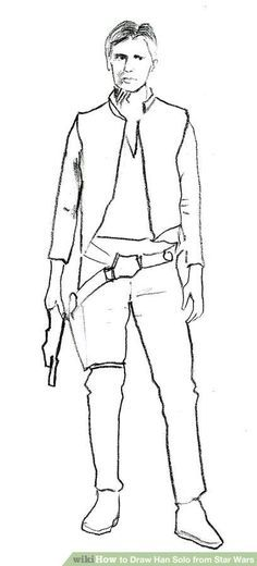 How to Draw Han Solo from Star Wars: 8 Steps (with Pictures)