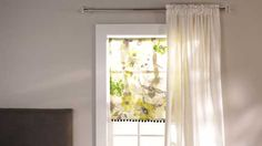 Watch DIY Roller Shades in the Better Homes and Gardens Video ~ VERY EASY !!!  Totally doing this now!