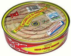 Piñero y Díaz. Filetes de Caballa de Andalucía en Aceite de Girasol. Lata de 659 gramos