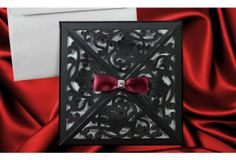 14 Best Black And White Red Wedding Invitations Images Black