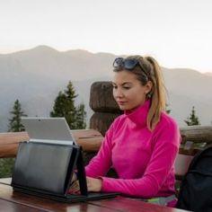 bad posture, freelance writing, ergonomics, Surface Pro, Silesian case