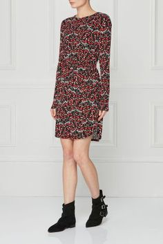 Buy Warehouse Red Tiger Moth Printed Wrap Dress online today at Next: Israel