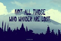 Not all those who wander are lost. #quotes #travelquotes