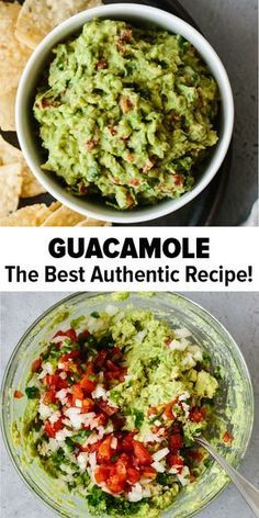 Guacamole – The Best Authentic Recipe! This guacamole recipe is simple to make and uses fresh, high quality ingredients. It's easy, authentic and delicious! A traditional Mexican guacamole and the best ever dip or appetizer. Authentic Guacamole Recipe, Guacamole Recipe Easy, Avocado Recipes, Fresh Guacamole, Homemade Guacamole, Recipes With Guacamole, Guacamole Dip, Sauces, Salads