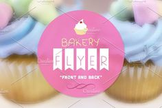 Cutie Treats Bakery Flyer Template by Epickita on @creativemarket