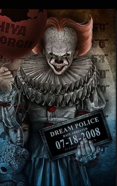 Pennywiser got that balloon wit big ass hole in it and it STILL FLOATING! Clown 🤡 got skills🎈 Scary Clowns, Creepy, Scary Movies, Horror Movies, Art Du Joker, Image Triste, Arte Dope, Harley Quinn Halloween, Halloween Prop