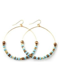 Vanessa Mooney Cairo Hoop Earrings