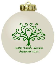 Family History Gifts Christmas Ornament Ideas For 2019 Family Reunion Cakes, Family Reunion Shirts, Family Reunions, Family Reunion Decorations, Class Reunion Favors, Family Tree Designs, School Reunion, Family Christmas, Christmas Time