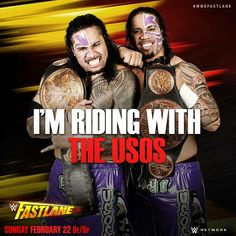 Jimmy & Jey USO lost the Tag Team Champion last night at Fast Lane but someday they will be champion again