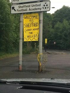 Welcome to Sheffield